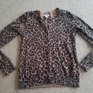 Old navy leopard print cardigan size small